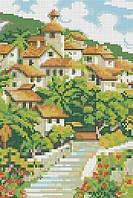 Схема для вышивания бисером Зеленый городок КМР 4198