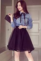 Воздушная юбка черного цвета