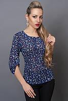 Женская блуза в мелкий цветочек