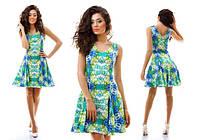 Легкое летнее платье с юбкой колокольчиком