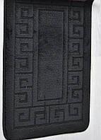 Набор ковриков для ванной  и туалета 50х80+40х50  MAXIMUS ETHNIC BLACK