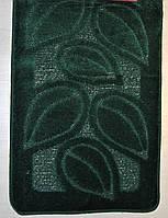 Набор ковриков для ванной и туалета 50х80+40х50  MAXIMUS  FLORA HUNTER GREEN