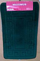 Набор ковриков для ванной и туалета MAXIMUS ETHNIC HUNTER GREEN