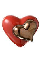 Декор керамический настенный/настольный глянцевый красный Сердце.