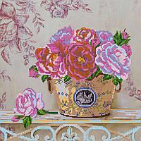 """Схема для вышивки бисером на художественном холсте """"Парижские цветы"""""""