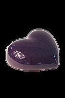 Декор керамический настенный/настольный глянцевый фиолетовый Сердце.