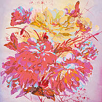 """Схема для вышивки бисером на художественном холсте """"Розовый щербет"""""""