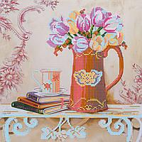 """Схема для вышивки бисером на художественном холсте """"Прованские тюльпаны"""""""