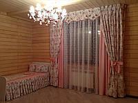 Шторы в детскую спальню с ламбрекеном бандо №242
