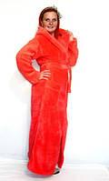 Махровый халат длинный в пол