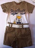 Комплект FLEXI FASHION Для мальчиков Футболка+шорты ТК7573 Flexi Турция