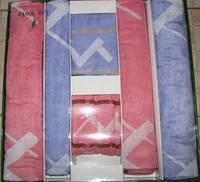 Набор бамбуковых полотенец Le Vele из 6 шт.(розовые,голубые)