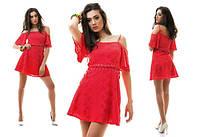 Короткое платье-сарафан из батиста на подкладке
