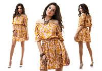 Летнее платье из стрейч-атласа