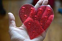 Сердце красное Мини-коврики