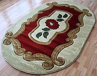 Полипропиленовый коврик для детей терракот с бежевым