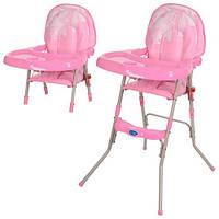 Детский стульчик для кормления GL 217-8 розовый, доставка из Одессы