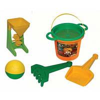 Набор для песка Тигренок с мельницей и мячом Wader 39035