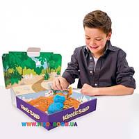 Песок для детского творчества Wacky-tivities Kinetic Sand Dino голубой, коричневый 71415Dn