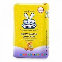 Крем-мыло с оливковым маслом и ромашкой 90 гр. Ушастый нянь 01972