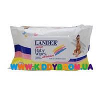 Детские влажные салфетки 100 шт Lander 010566