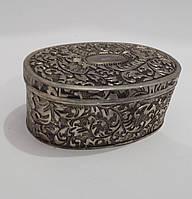 Шкатулка для украшений металлическая