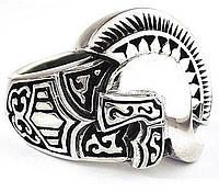 Спартанец серебряное мужское кольцо перстень печатка воина, срібний чоловічий