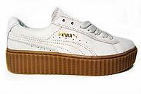 Женские кроссовки Puma. Оригинал, натуральная замша, белые, Р.  38  39