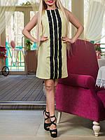 """Летнее красивое платье """"Тулуза лимо"""", до 52 размера"""