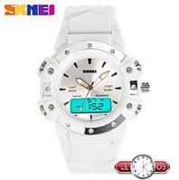 Спортивные наручные часы Skmei White Style с подсветкой
