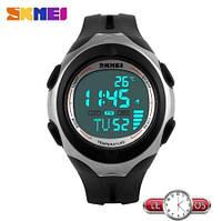 Спортивные электронные наручные часы с термометром Skmei Termometr