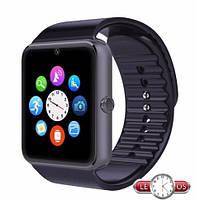 Умные наручные часы GT08 Black, Bluetooth + камера + sim карта