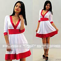 Красивое клешное платье