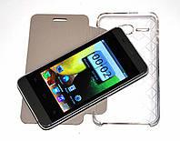 Смартфон Samsung 802 - MP3, FM, СЕНСОРНЫЙ, 2 SIM + ЧЕХОЛ! реплика