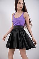 Стильная юбка полусолнце экокожа MIRA-SKIN