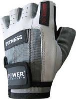 Мужские перчатки для зала Power System PS-2300 FITNESS серо-белый