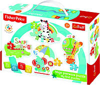 """Пазлы для малышей """"Baby CLASSIC- Зебра, Жираф, Слон и Крокодил /Mattel Fisher-Price"""" 36058 Trefl"""