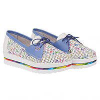 Летние женские туфли от Mioli (с перфорацией, оригинальным принтом, на платформе)