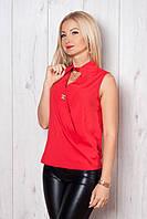 Очень красивая блуза из шелка оригинального кроя спереди на запах