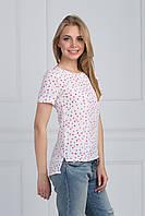 Легкая летняя блуза на каждый день из сатина прямого кроя