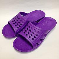 Женские фиолетовые цельнолитые шлепанцы, сланцы из ЭВА