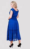 Женское длинное платье из хлопка