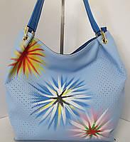 Женская сумка  с цветочным принтом от Velina Fabbiano