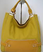Женская сумка  горчичного цвета от Velina Fabbiano