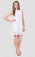 Красивое ажурное платье без рукав