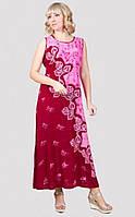 Оригинальное длинное платье без рукавов