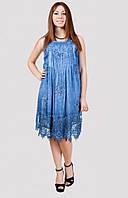 Стильное женское платье с красивым ажурным низом