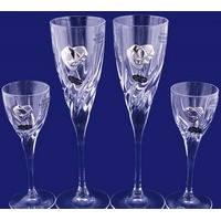 Набор: 2 свадебных бокала для шампанского и 2 рюмки для водки, в подарочной коробке Suggest. арт.PC1348945D