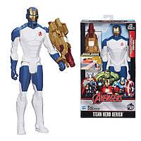 Большой Железный человек (Iron Man) высотой 30 см со светящимся бластером. Оригинал Hasbro