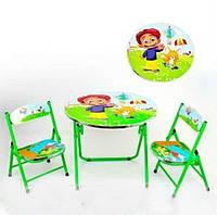 Складной стол с двумя стульчиками для ребенка